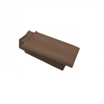 Керамическая черепица боковая левая Koramic Alegra 12 Dark Brown