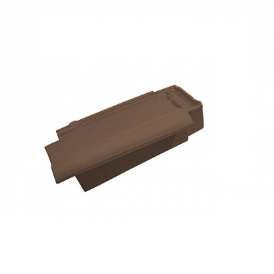 Керамическая черепица боковая правая Koramic Alegra 12 Dark Brown