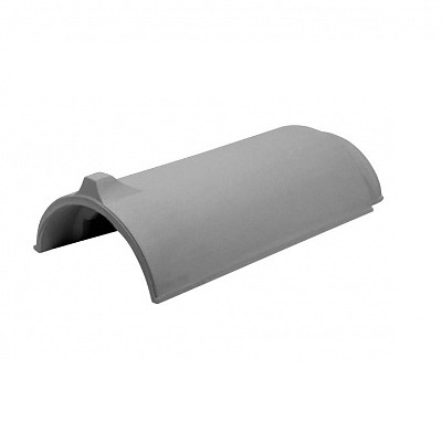 Керамическая черепица коньковая Koramic Alegra 15 Noble Dark Grey