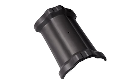 Керамическая центральная коньковая черепица BRAAS Рубин 11V антрацит ангоб