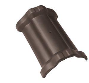 Керамическая центральная коньковая черепица BRAAS Рубин 11V темно-коричневый ангоб