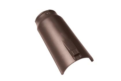 Керамическая коньковая черепица BRAAS Опал темно-коричневый ангоб