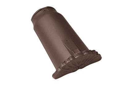 Керамическая начальная коньковая черепица BRAAS Опал темно-коричневый ангоб