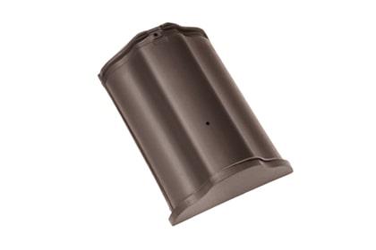 Керамическая начальная коньковая черепица BRAAS Рубин 11V темно-коричневый ангоб
