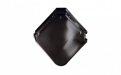 Керамическая рядовая черепица BRAAS Изумруд черный кристалл топ-глазурь