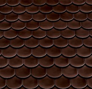 Керамическая рядовая черепица BRAAS Опал тик коричневый глазурь