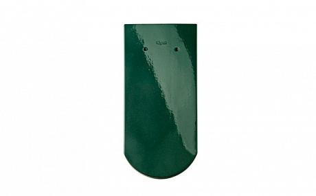 Керамическая рядовая черепица BRAAS Опал зеленая ель топ-глазурь