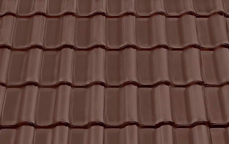 Керамическая рядовая черепица BRAAS Рубин 11V темно-коричневый ангоб