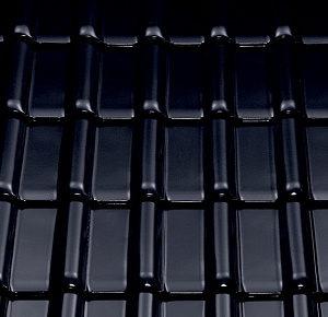 Керамическая рядовая черепица BRAAS Рубин 13V черный бриллиант топ-глазурь