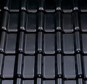 Керамическая рядовая черепица BRAAS Рубин 13V черный кристалл топ-глазурь