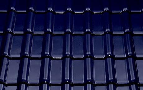 Керамическая рядовая черепица BRAAS Рубин 13V синий бриллиант топ-глазурь