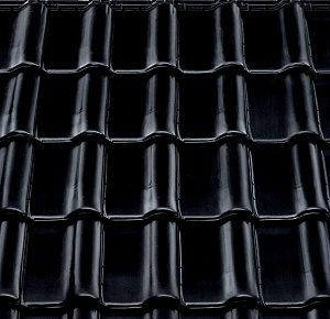 Керамическая рядовая черепица BRAAS Рубин 9V глубокий черный глазурь