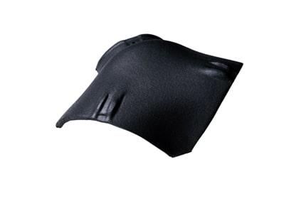 Керамическая вальмовая черепица BRAAS Опал черный бриллиант топ-глазурь
