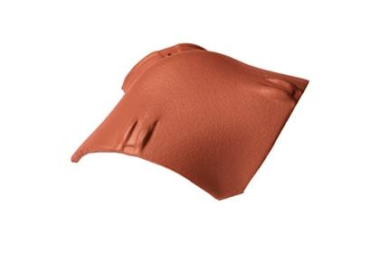 Керамическая вальмовая черепица BRAAS Опал натуральный красный