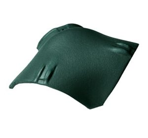 Керамическая вальмовая черепица BRAAS Опал зеленая ель топ-глазурь