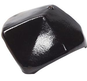 Керамическая вальмовая черепица BRAAS Турмалин глубокий черный глазурь