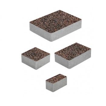 Тротуарные плиты ВЫБОР Листопад гладкий МЮНХЕН Б.2.Фсм.6 Клинкер- комплект из 4 плит