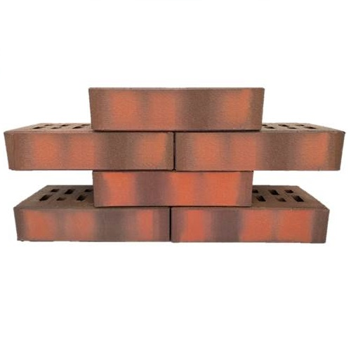 Клинкер фасадный ЛСР красный флэшинг 0,54NF гладкий