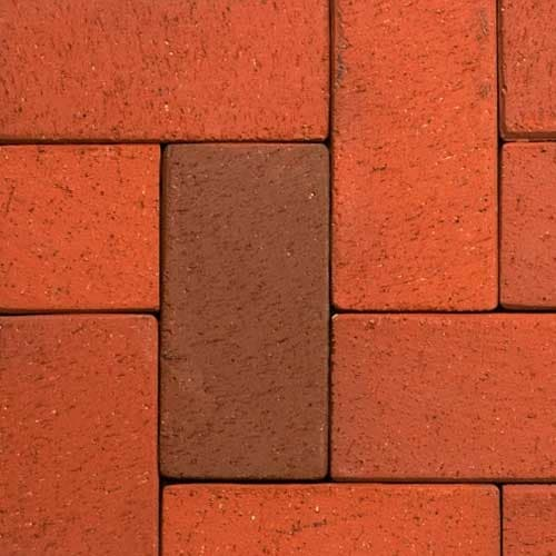 Клинкерная тротуарная брусчатка ABC Altfarben-bunt-geflammt, 200х100х52 мм