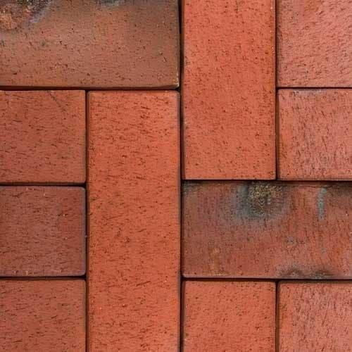 Клинкерная тротуарная брусчатка ABC Carbo (rot-bunt-Kohlebrand), 200х118х52 мм