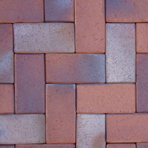 Клинкерная тротуарная брусчатка ABC Danzig dunkelrot-anthrazit, 200х100х52 мм