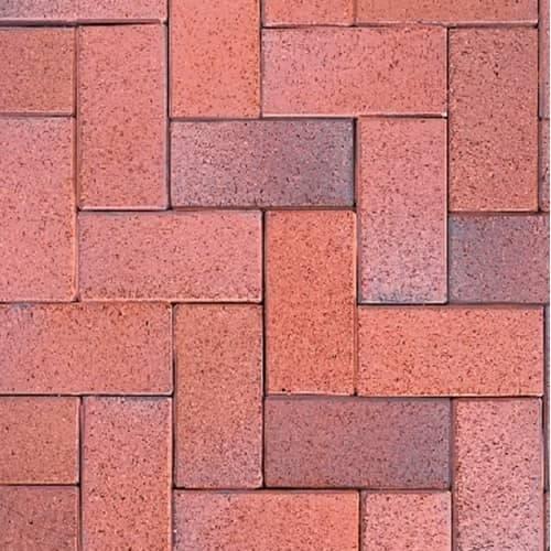 Клинкерная тротуарная брусчатка ABC Eisenschmelz-bunt-geflammt, 200х118х52 мм