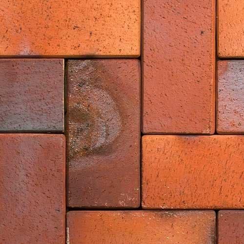 Клинкерная тротуарная брусчатка ABC Ember orange-gelb-Kohlebrand, 200х118х52 мм