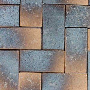 Клинкерная тротуарная брусчатка ABC Laderfarben black, 200х100х45 мм