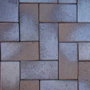 Клинкерная тротуарная брусчатка ABC Lubeck braun-blau-geflammt, 200х100х45 мм