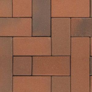 Клинкерная тротуарная брусчатка ABC Recker-bunt, 200х100х45 мм