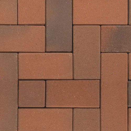 Клинкерная тротуарная брусчатка ABC Recker-bunt, 200х78х52 мм