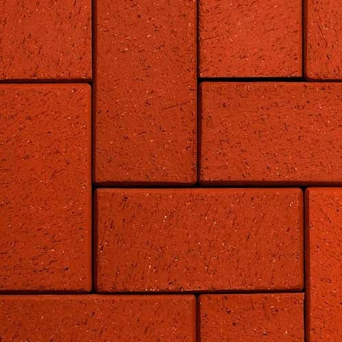 Клинкерная тротуарная брусчатка ABC Rot-nuanciert, 200х100х45 мм