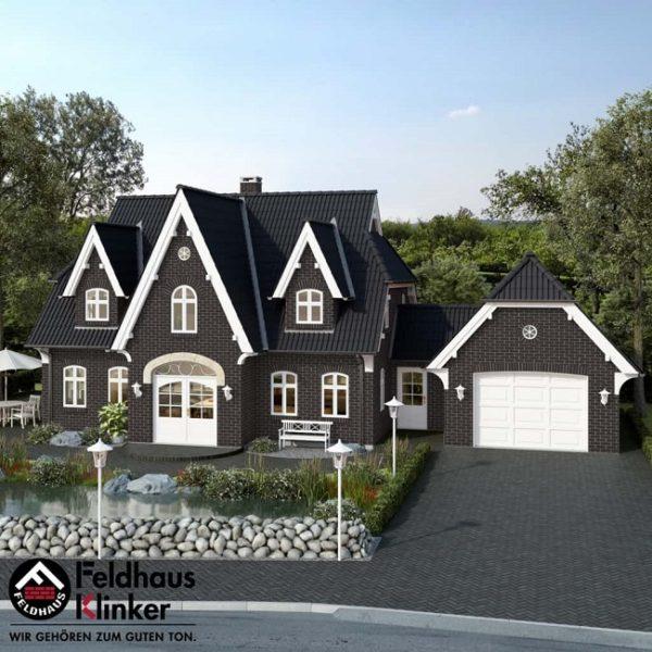 Клинкерная плитка Feldhaus Klinker Classic R700 anthracit liso