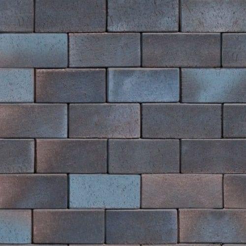 Клинкерная тротуарная брусчатка ABC Wismar blau-braun-bunt, 200х100х52 мм