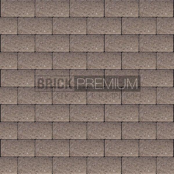 Тротуарная плитка Brick Premium Платцстоун Коричневый гладкая 65 мм