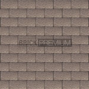 Тротуарная плитка Brick Premium Платцстоун Коричневый гладкая 45 мм
