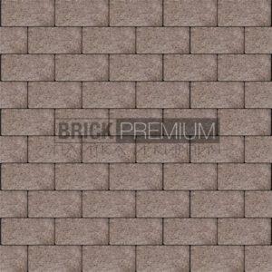 Тротуарная плитка Brick Premium Платцстоун Коричневый гранит 65 мм
