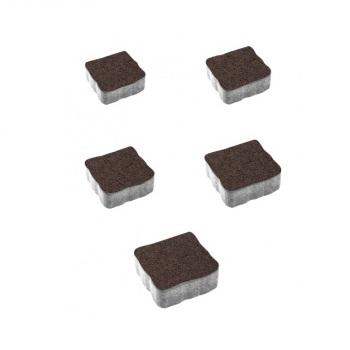 Тротуарные плиты ВЫБОР Гранит АНТИК А.3.А.4 Коричневый - комплект из 5 плит
