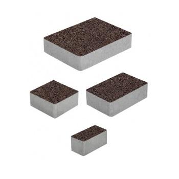 Тротуарные плиты ВЫБОР Гранит МЮНХЕН Б.2.Фсм.6 Коричневый- комплект из 4 плит