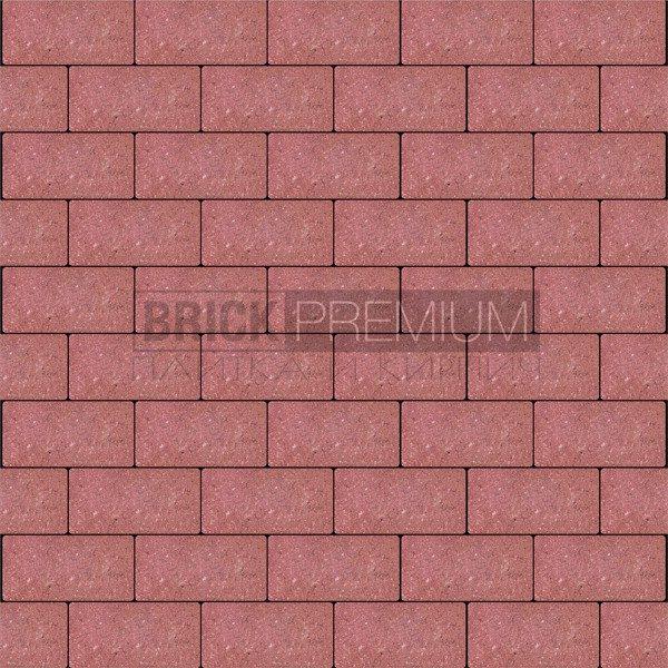 Тротуарная плитка Brick Premium Платцстоун Красный гладкая 65 мм
