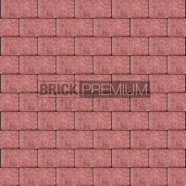 Тротуарная плитка Brick Premium Платцстоун Красный гранит 65 мм