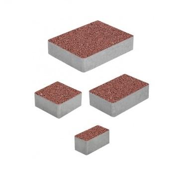 Тротуарные плиты ВЫБОР Гранит МЮНХЕН Б.2.Фсм.6 Красный- комплект из 4 плит