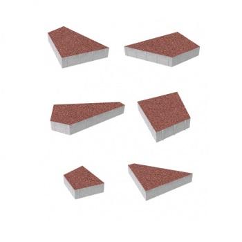 Тротуарные плиты ВЫБОР Гранит ОРИГАМИ Б.4.Фсм.8 Красный- комплект из 6 плит