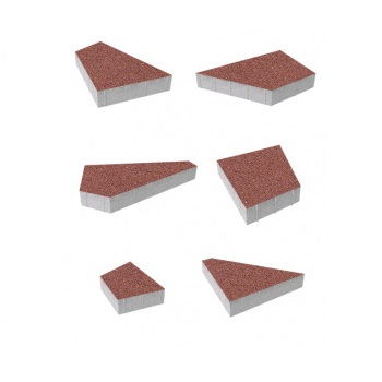 Тротуарные плиты ВЫБОР Стандарт ОРИГАМИ Б.4.Фсм.8 Красный- комплект из 6 плит