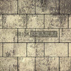 Тротуарная плитка Brick Premium Квадро Алькантара гранит 65 мм