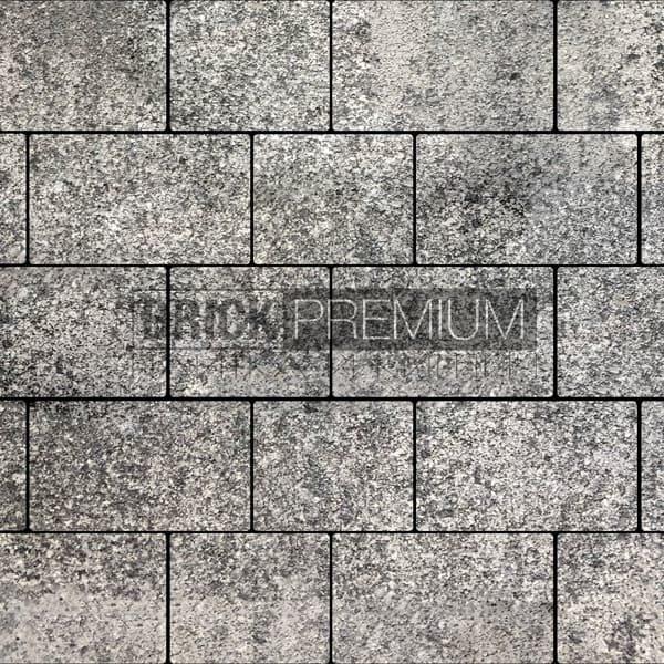 Тротуарная плитка Brick Premium Квадро Базальт гранит 65 мм