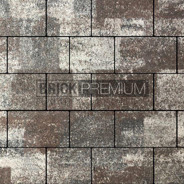 Тротуарная плитка Brick Premium Квадро Кальцит гранит 65 мм
