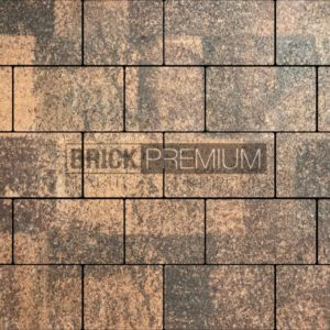Тротуарная плитка Brick Premium Квадро Клинкер гранит 65 мм