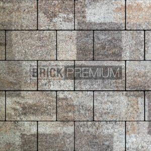 Тротуарная плитка Brick Premium Квадро Либерика гранит 65 мм