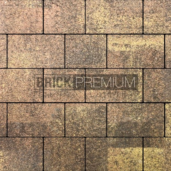 Тротуарная плитка Brick Premium Квадро Листопад гранит 65 мм
